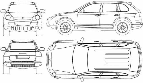 Blueprints > Cars > Porsche > Porsche Cayenne (2008)