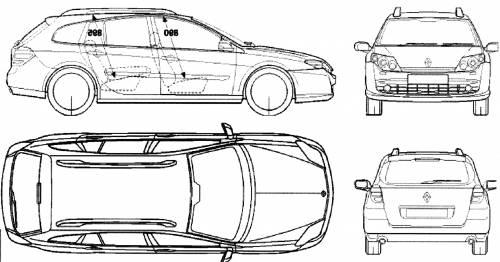 Blueprints > Cars > Renault > Renault Laguna III Break (2007)