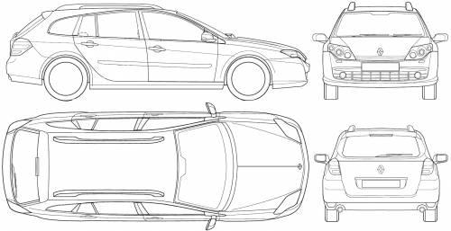 Blueprints > Cars > Renault > Renault Laguna III Break (2008)