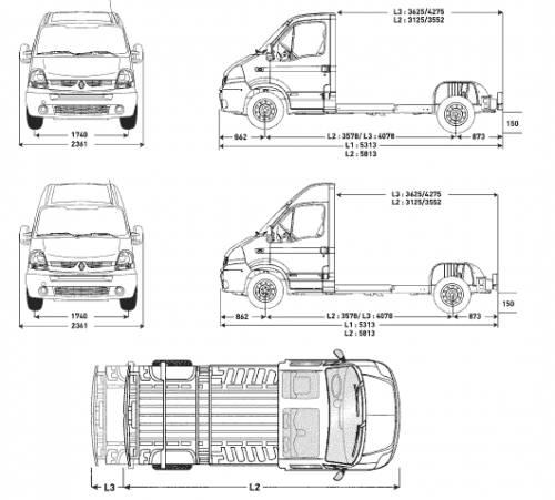 Blueprints > Cars > Renault > Renault Master Cab Floors (2007)