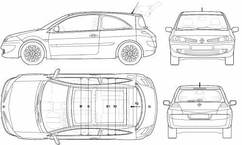 Blueprints > Cars > Renault > Renault Megane II 3-Door