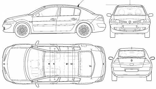 Blueprints > Cars > Renault > Renault Megane II 4-Door