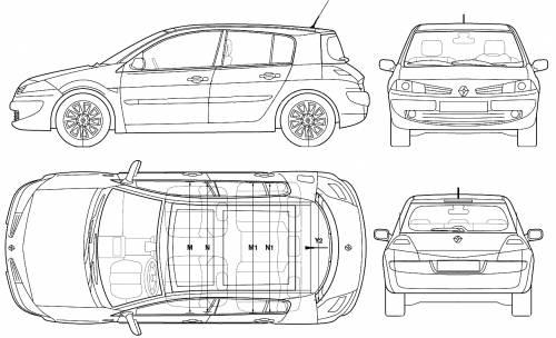 Blueprints > Cars > Renault > Renault Megane II 5-Door (2006)
