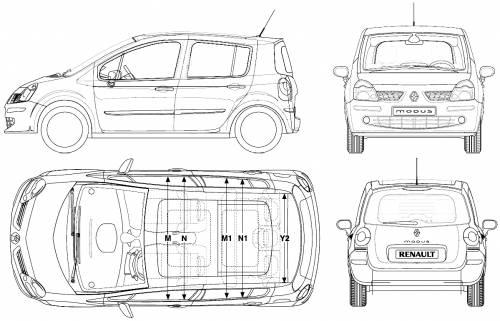 Blueprints > Cars > Renault > Renault Modus (2006)