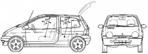 Blueprints > Cars > Renault > Renault Twingo (2004)