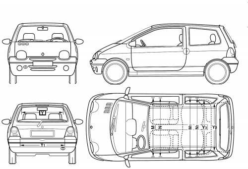 Renault Twingo Dimensions. citro n c1 ii vs renault twingo