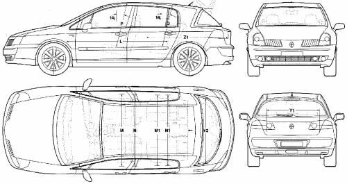 Blueprints > Cars > Renault > Renault Vel-Satis (1999)