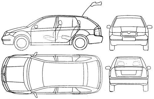 Blueprints > Cars > Skoda > Skoda Fabia Combi