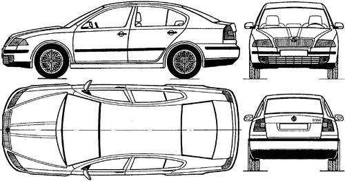 Blueprints > Cars > Skoda > Skoda Octavia (2004)