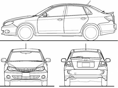 Blueprints > Cars > Subaru > Subaru Impreza Anesis (2010)