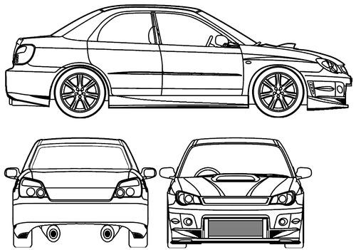 Blueprints > Cars > Subaru > Subaru Impreza STI Tuned (2007)