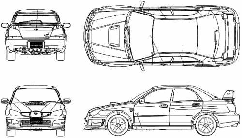 Blueprints > Cars > Subaru > Subaru Impreza WRX WR Limited