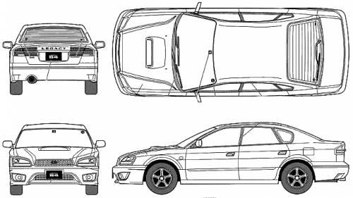 Blueprints > Cars > Subaru > Subaru Legacy B4 RSK 2