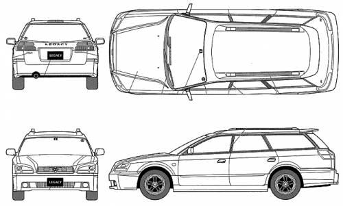 Blueprints > Cars > Subaru > Subaru Legacy Touring Wagon