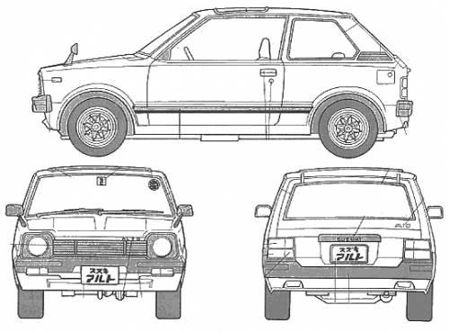 Blueprints > Cars > Suzuki > Suzuki Alto (1981)