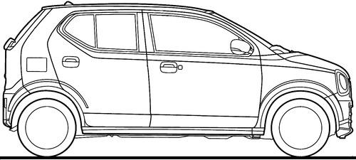 Blueprints > Cars > Suzuki > Suzuki Alto (2015)
