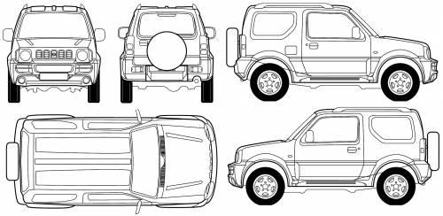 Blueprints > Cars > Suzuki > Suzuki Jimny Hard Top (2007)