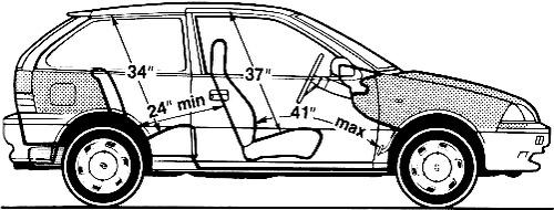 Blueprints > Cars > Suzuki > Suzuki Swift 1.3 GTi (1989)
