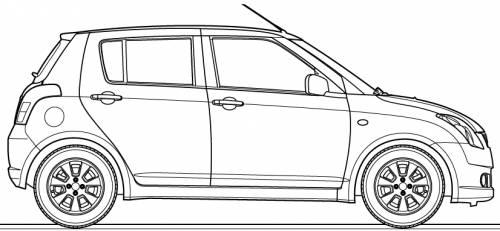 Blueprints > Cars > Suzuki > Suzuki Swift 5-Door (2007)