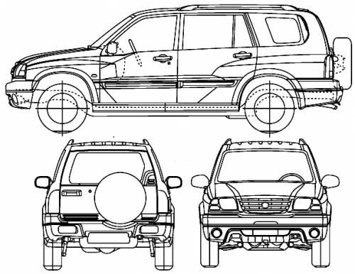 Blueprints > Cars > Suzuki > Suzuki Vitara XL-7 (2005)
