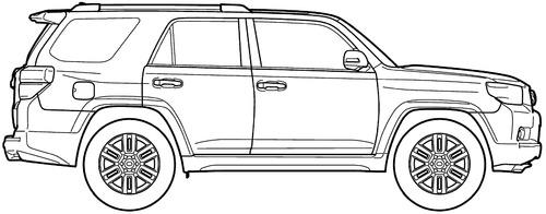 Blueprints > Cars > Toyota > Toyota 4Runner (2011)