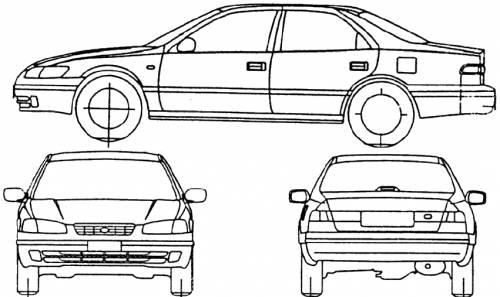 Blueprints > Cars > Toyota > Toyota Camry (1997)