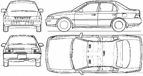 Blueprints > Cars > Toyota > Toyota Corolla (1992)