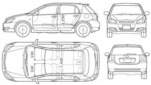 2005 Toyota corolla interior dimensions