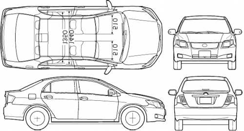 Blueprints > Cars > Toyota > Toyota Corolla Axio (2007)