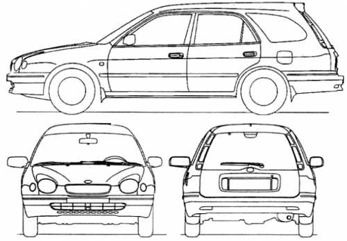 Toyota corolla estate dimensions