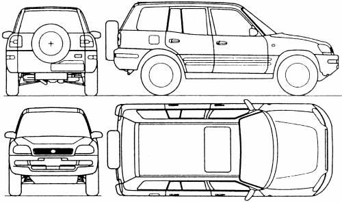 Blueprints > Cars > Toyota > Toyota Corolla RAV4 (1999)