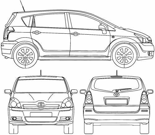 Toyota corolla verso boot dimensions