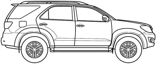 Blueprints > Cars > Toyota > Toyota Fortuner (2015)