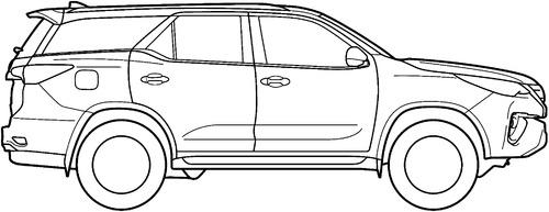Blueprints > Cars > Toyota > Toyota Fortuner (2016)