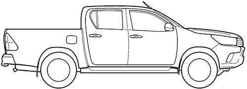 Blueprints > Cars > Toyota > Toyota Hilux (2016)
