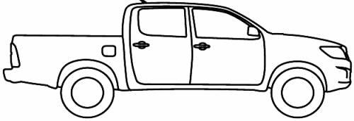 Blueprints > Cars > Toyota > Toyota Hilux AU (2012)