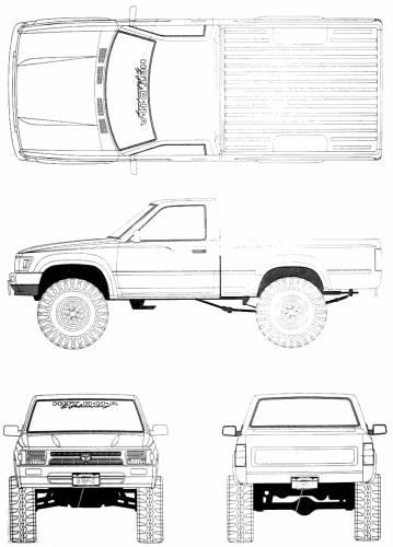 Blueprints > Cars > Toyota > Toyota HiLux Pick-Up Mk. IV