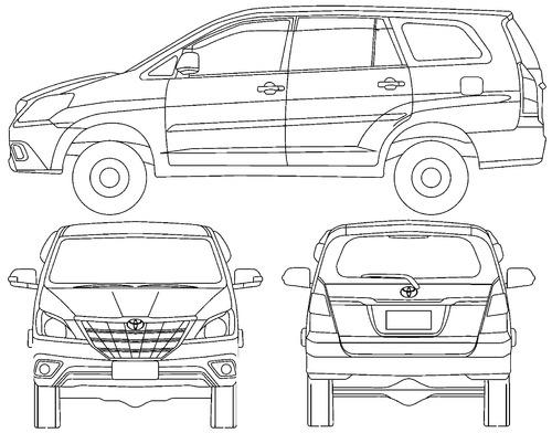 Blueprints > Cars > Toyota > Toyota Innova (2016)