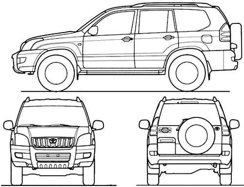 Blueprints > Cars > Toyota > Toyota Land Cruiser 120 Prado