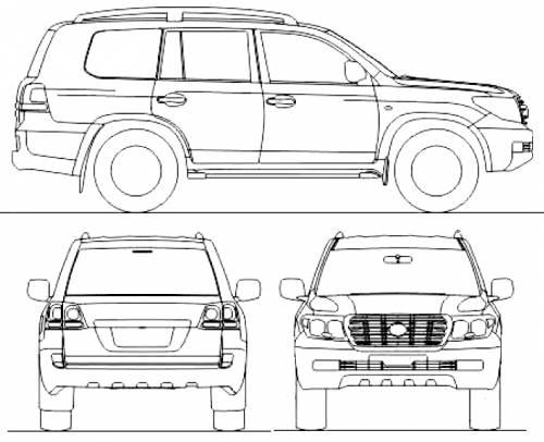 Blueprints > Cars > Toyota > Toyota Land Cruiser 200 V8
