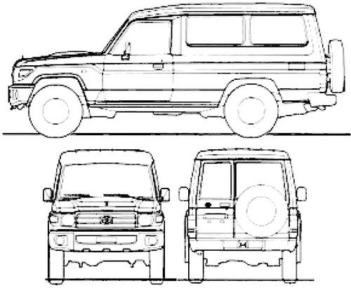 Blueprints > Cars > Toyota > Toyota Land Cruiser 70 Estate