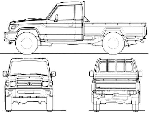 Blueprints > Cars > Toyota > Toyota Land Cruiser 70 Pick