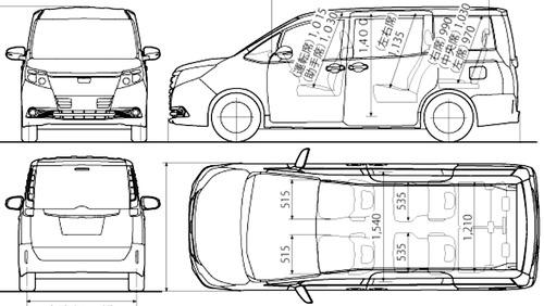 Toyota noah dimensions