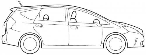 Blueprints > Cars > Toyota > Toyota Prius Alpha CX (2011)