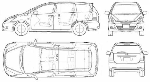 Blueprints > Cars > Toyota > Toyota Wish (2006)