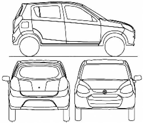 Blueprints > Cars > Various Cars > Maruti Suzuki Alto (2013)