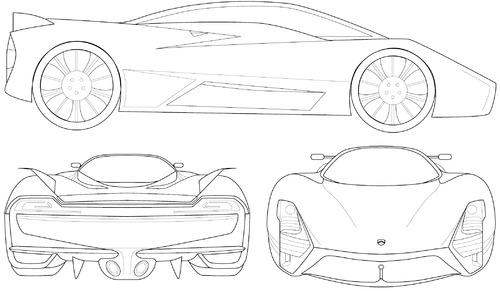 Blueprints > Cars > Various Cars > SSC Tuatara (2014)