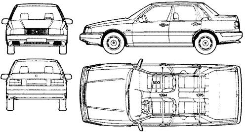 Blueprints > Cars > Volvo > Volvo 460 GLT (1990)