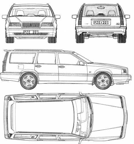 Blueprints > Cars > Volvo > Volvo 850 Estate (1994)