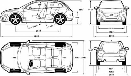 Blueprints > Cars > Volvo > Volvo C30 (2012)